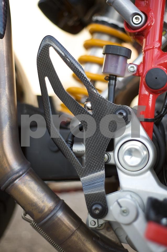 Ducati Performance carbon heel guard