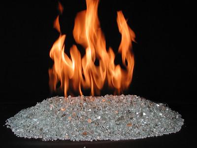 Vented FireGlitter, Platinum glass