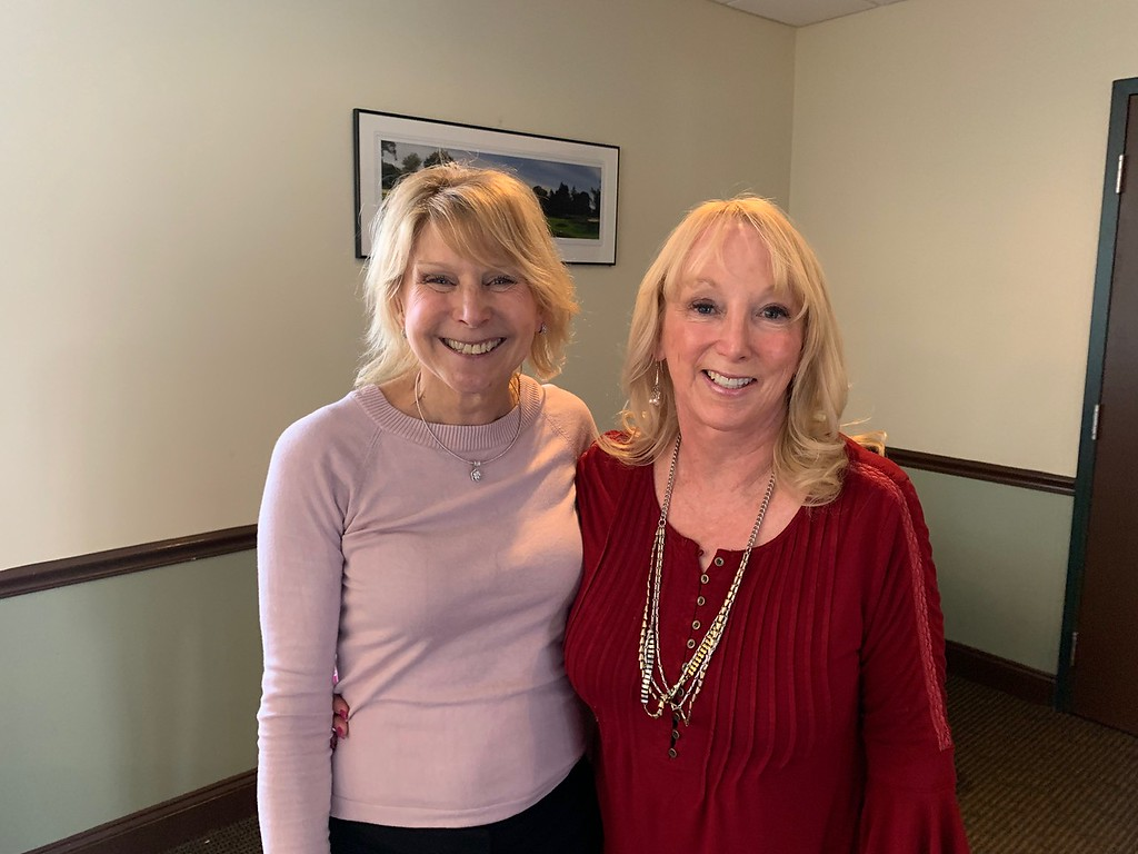 . Jody Marchand of Westford, founder and president of Live for Liv, and Carol Aguiar of Tyngsboro