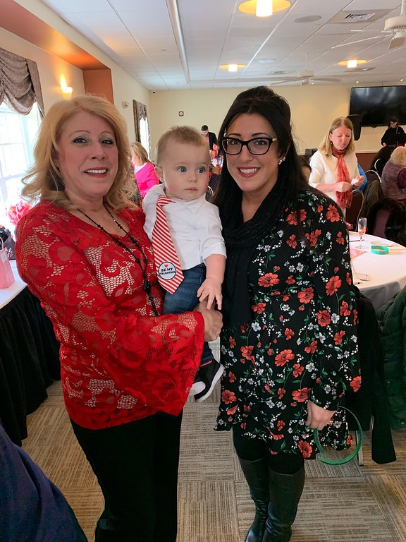 . Eduarda Silva, holding little sweetheart Dominic Gorman, and Jessica Silva, all of Lowell