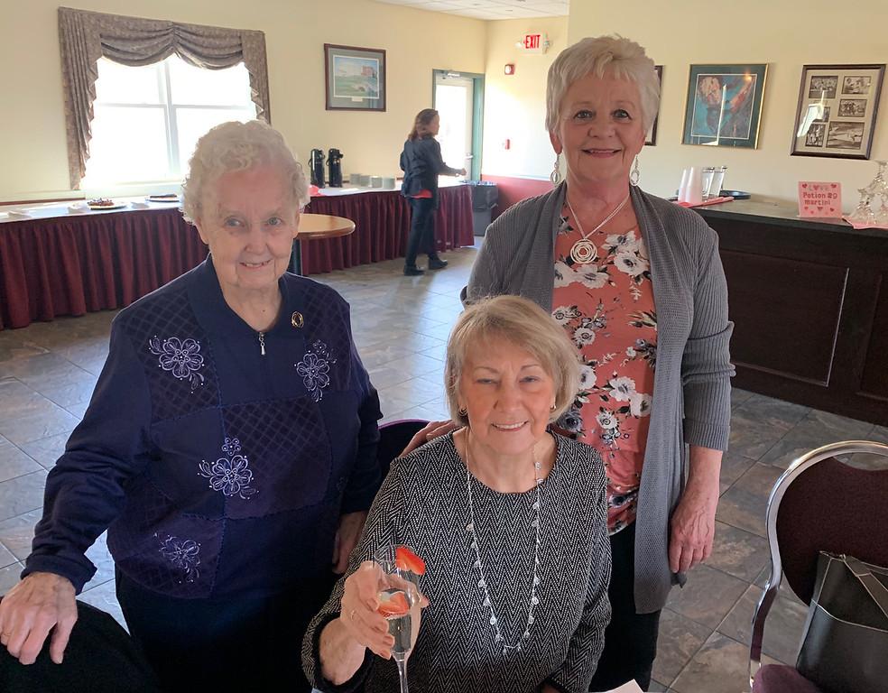 . From left, Barbara Hoar and Peg Stanton of Lowell, and Donner Richardson of Dracut