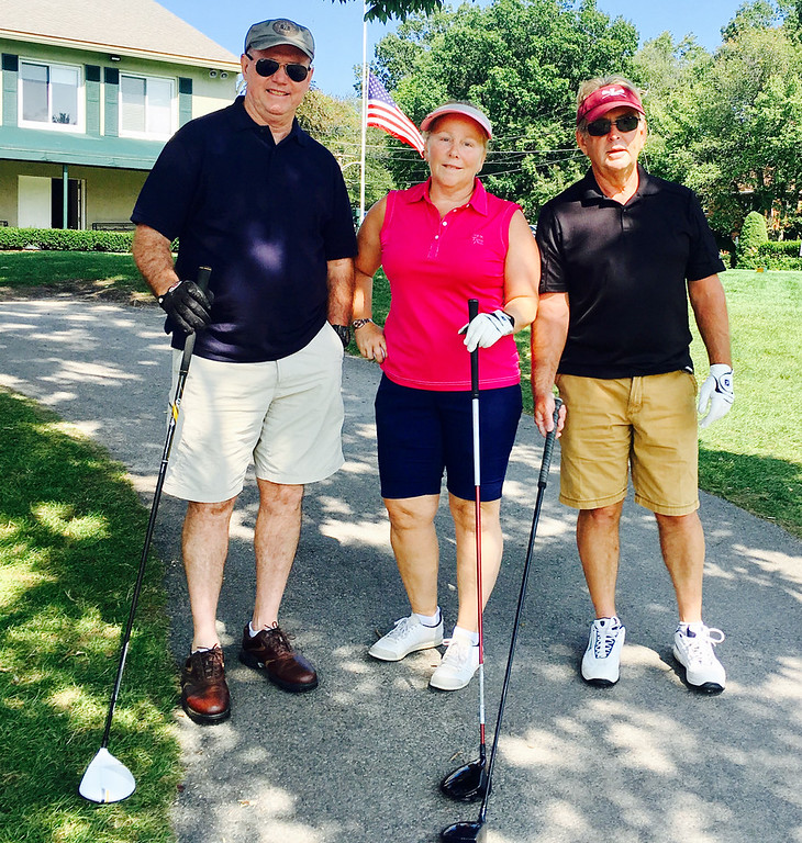 . From left, Mike Carney of Meredith, N.H., Carol O�Brien of Tewksbury and Jim Dolan of Lowell