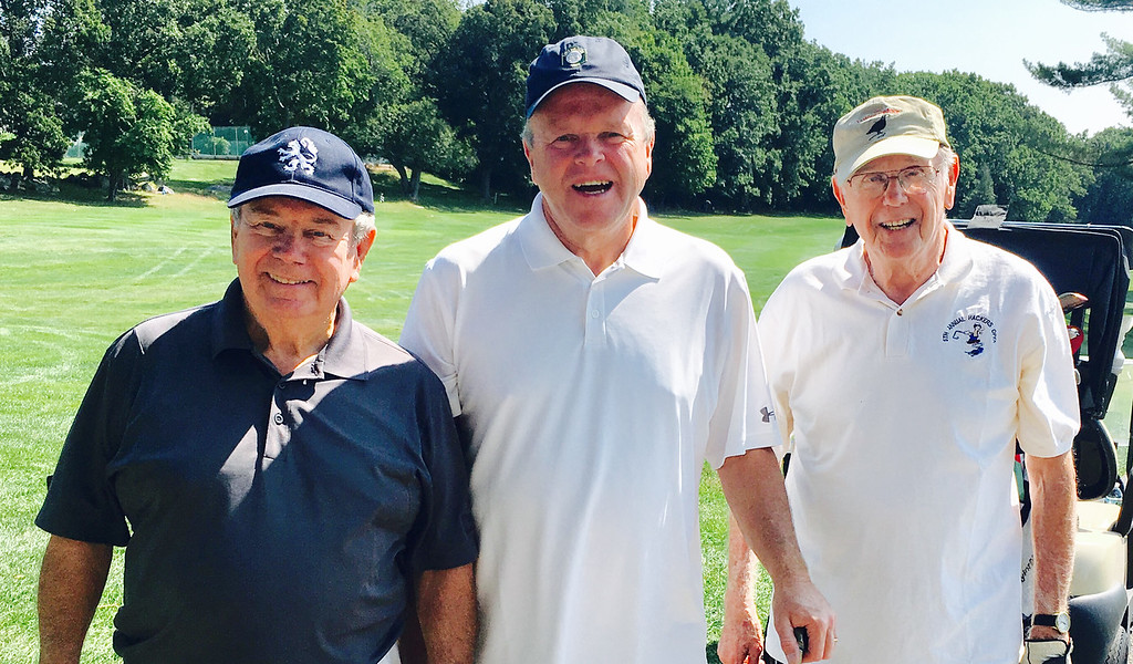. From left, George O�Hare of Lowell, Jerry Durkin of Dunstable and George Mahoney of Lowell