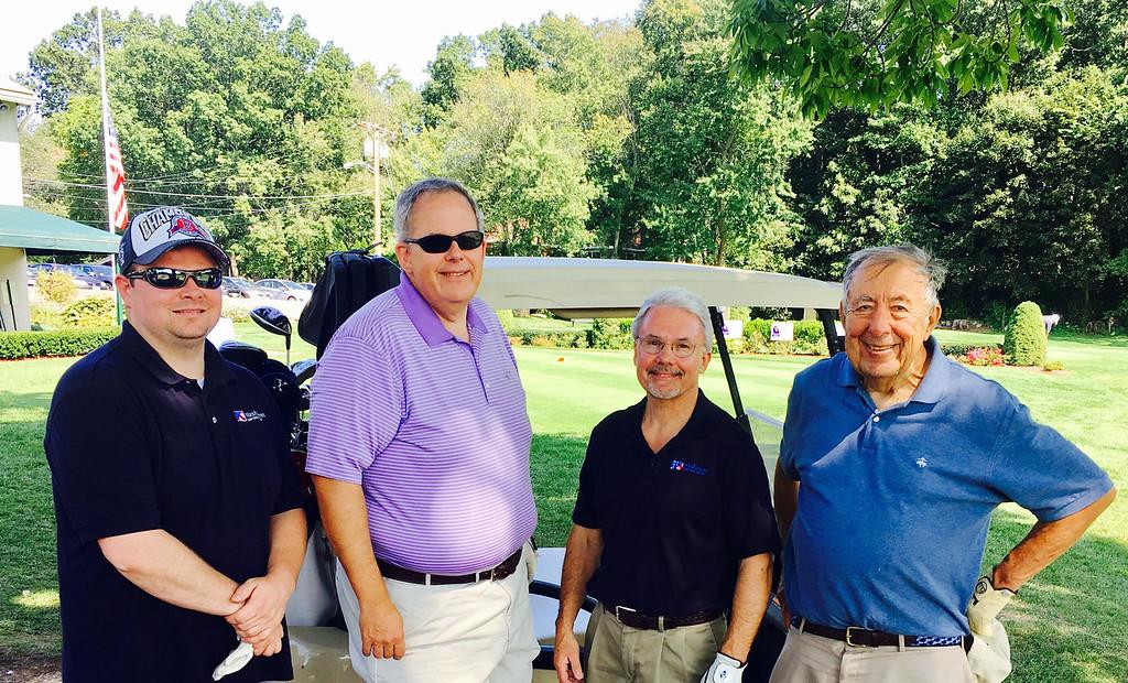 . From left, Derek Devoe of Danvers, Jim Hogan of Pelham, abd Jerry Frechette and Peter Daley, both of Lowell