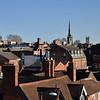 Pamoramic rooftop views of Shrewsbury.