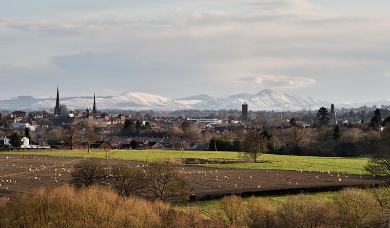 View of Shrewsbury from Hencote.