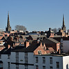 Rooftop views of Shrewsbury.