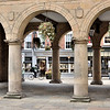 The arches of the old Market Hall, Shrewsbury.