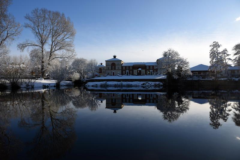 A view  towards Longden Coleham, Shrewsbury.