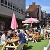 Shoplatch, Shrewsbury as a pedestrianised area.