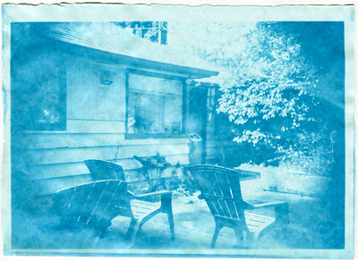 Cyanotype from 5x7 Paper Negative