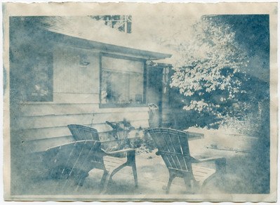 Coffee Toned Cyanotype from Paper Negative