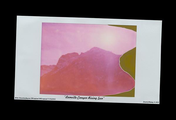 Lamoille Canyon Rising Sun