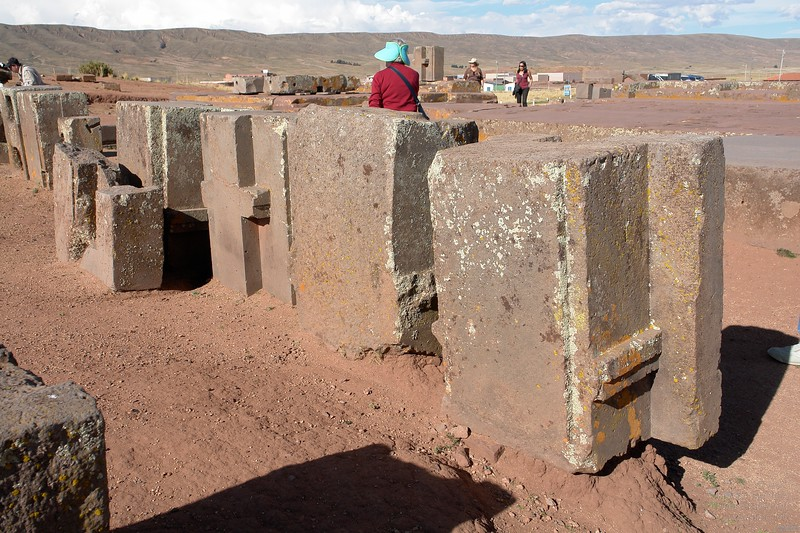 Puma Punku. Backside of the H-shaped blocks. They are all similar but not identical.