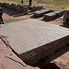 Puma Punku. A huge pavement block, but this one is made from andesite!