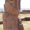 Tiwanaku. The 2nd statue. Same double headed thing and two left hands.