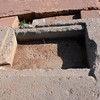 Puma Punku. Metal door hinge was broken away in ancient time already.