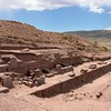 Tiwanaku. Most of the pyramid walls are made from red sandstone.