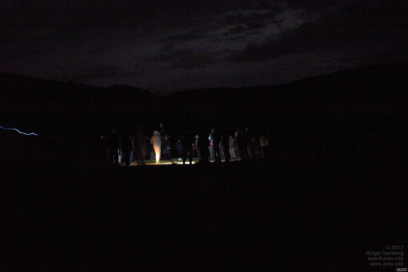 On the evening of 11/11/2011 at the site of Amaru Maru. That's no ghost snake on the left, just someone walking around with a light.