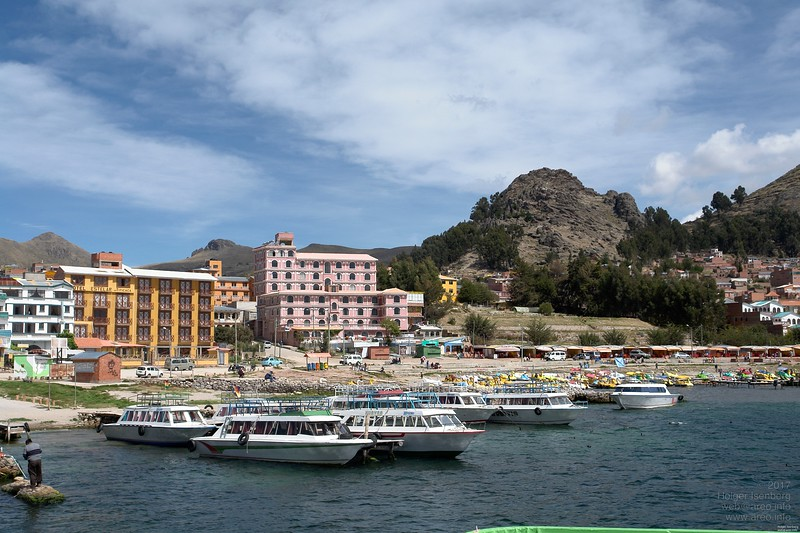 Copacabana, Bolivia. Port for leaving to the Isla del Sol.