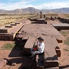 Puma Punku. The giant sandstone paving blocks.