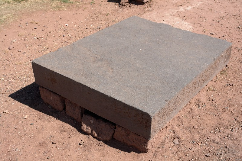 "Tiwanaku. Perfect andesite ashlar. 42"" x 54 1/4""."