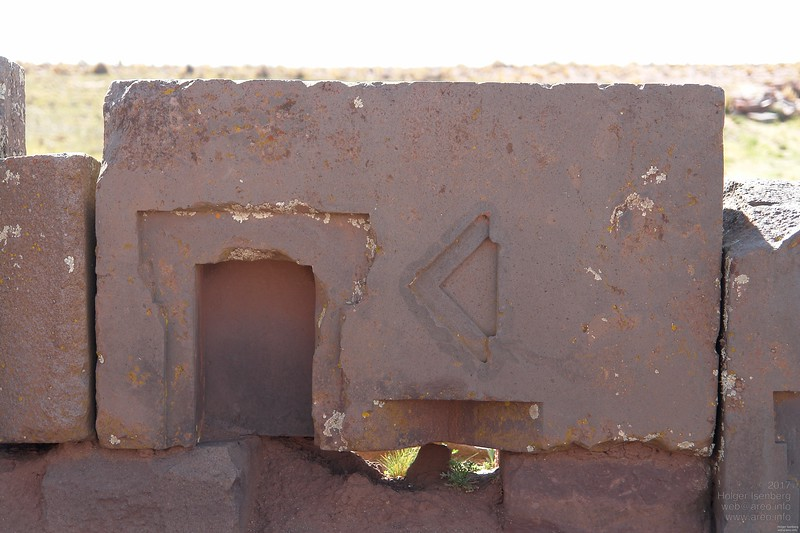 Puma Punku. The only non rectangular angle on this site.