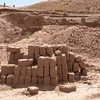 Tiwanaku. Todays adobe bricks. Devolition of knowledge or resources.