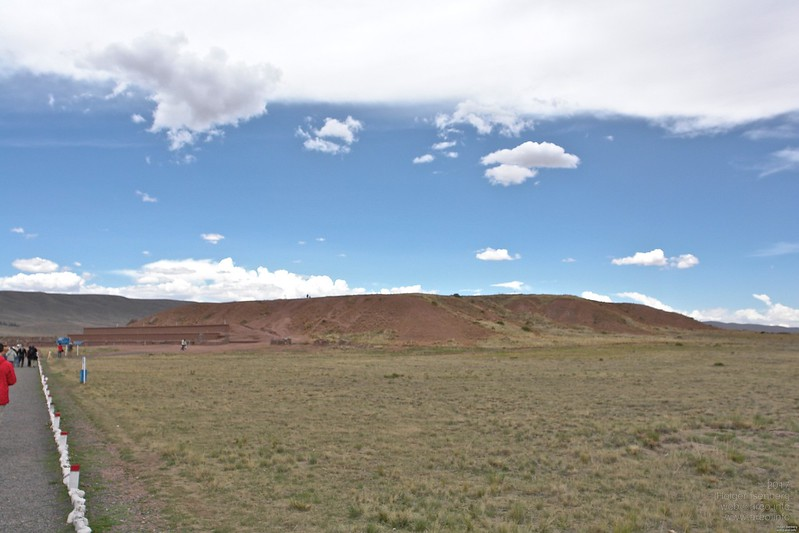 Tiwanaku, or Tiahuanaco. This is the earthen pyramid at the site, not very spectacular from far away.
