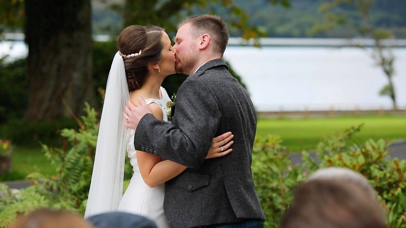 """Screenshots from <a href=""""https://worldlynomads.com/altskeith-house-wedding-video/"""">Altskeith house wedding video</a>, filmed by Worldly Nomads Films."""