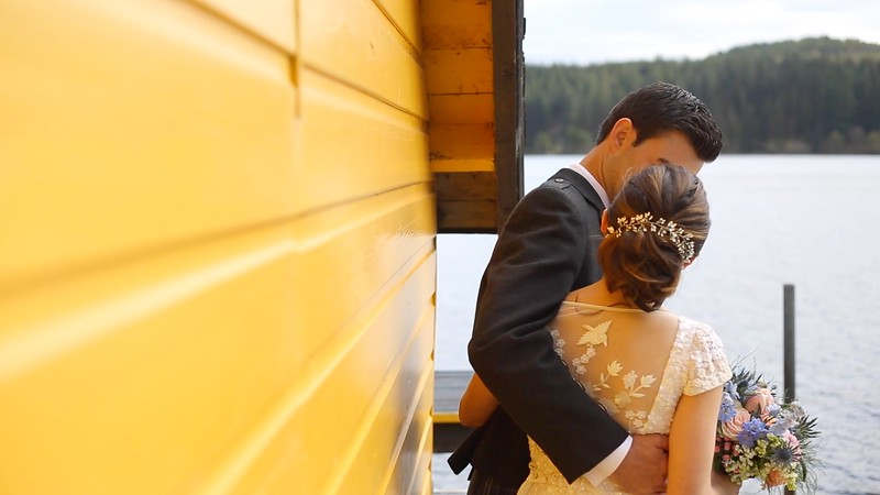 "Screenshots from <a href=""https://worldlynomads.com/altskeith-house-wedding-video/"">Altskeith house wedding video</a>, filmed by Worldly Nomads Films."