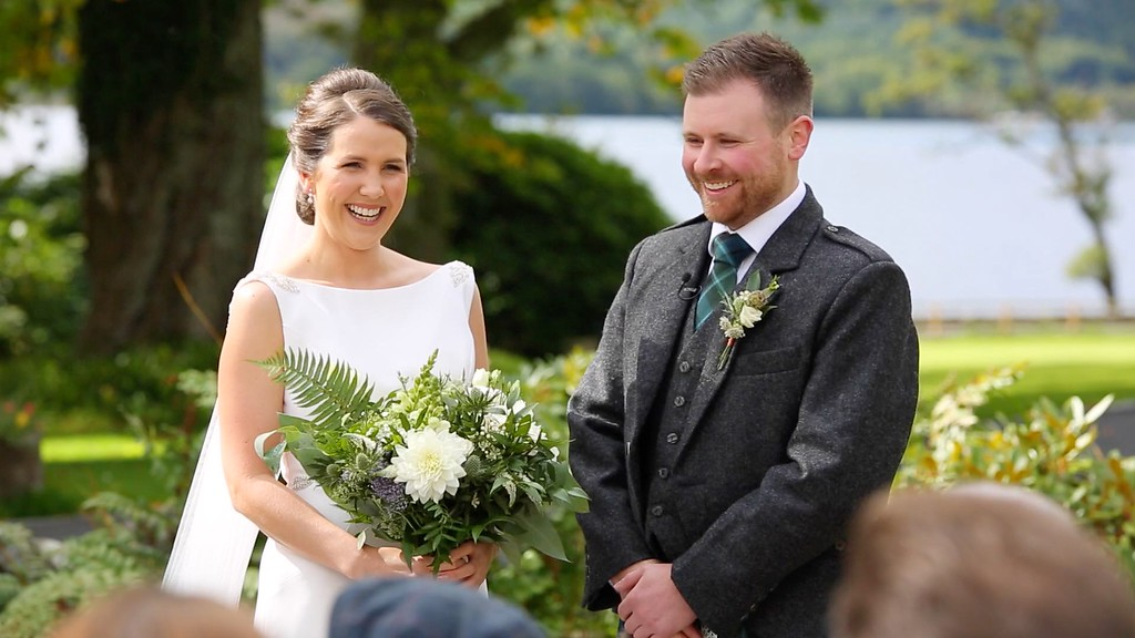 altskeith house outdoor ceremony