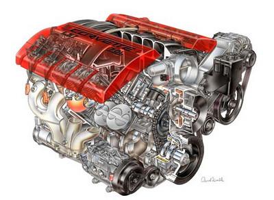 Aluminum LS Chevy engine...