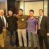 Jim Smith, Chris Zhu '16, Ziyu Liu '14, Timmy Zhang '15, Joe Painter at the Beijing Reception, January, 2013