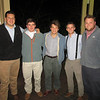 Furman and Wofford MAC at Smoke on the Water (2/4/13)<br />  L to R: Tye Youngblood, Andrew McCurry, George Flowers, Blake Singer, Joe Banks