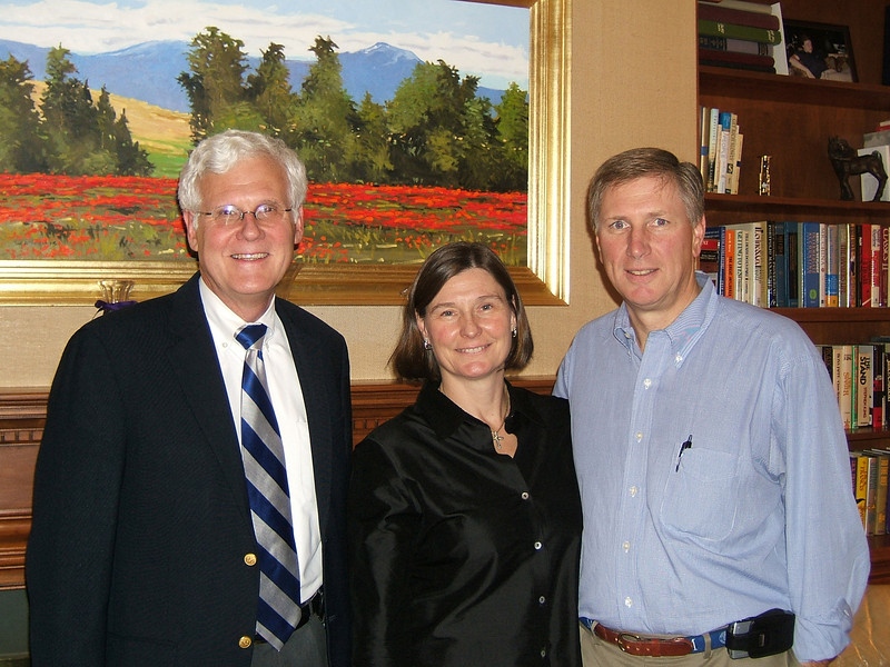 Event hosts Kim and Tim Stump with Dr. Walker.