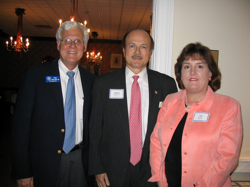Lou and Robert Rainey '70 hosted the gathering.