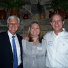 Headmaster Kirk Walker '69 with gathering hosts Natalie and Rob Huffaker '78.