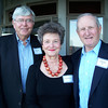 John Barrow '58, Harriett Bauknight, and Ed Michaels '60