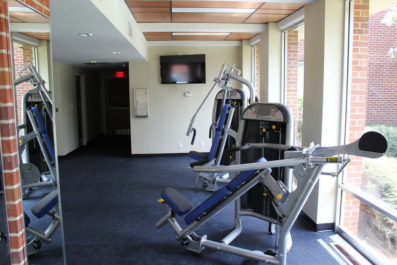 8/17/2011 - The installation of equipment in the Callie Mae Swango Fitness Center in The Inn at Ole Miss is almost complete.