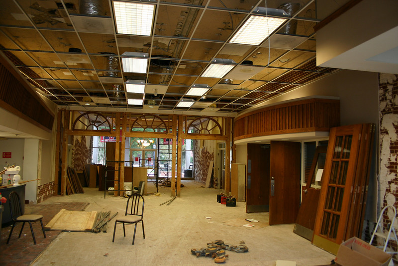 The old snackbar in the Triplett Alumni Center will be converted to office space. 10-22-09