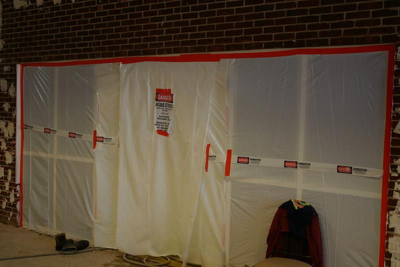Asbestos removal underway in Butler Auditorium - 11/2/09