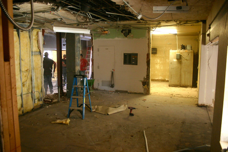View of former records department and kitchen area. 11/2/09