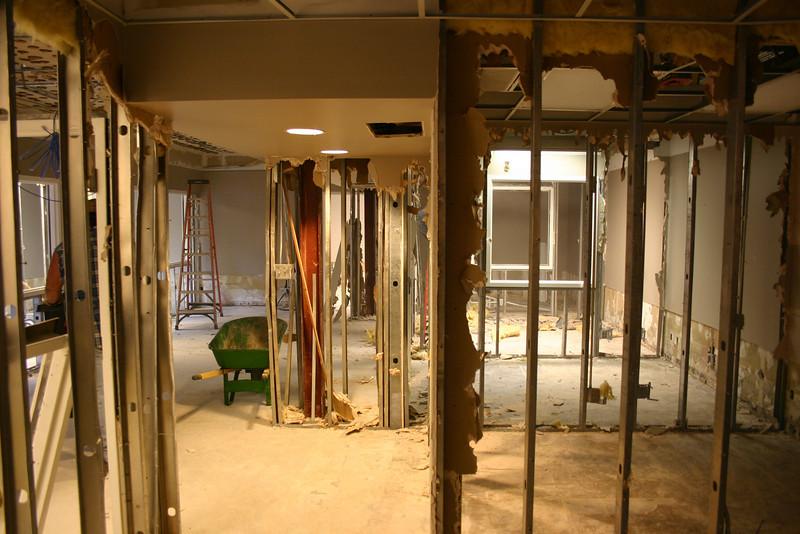 Original reception area and offices in the Triplett Alumni Center. 10-22-09