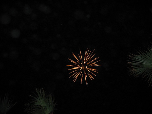 The venue for the Lamar Order event provided the perfect location to watch fireworks provided by the MS Bar