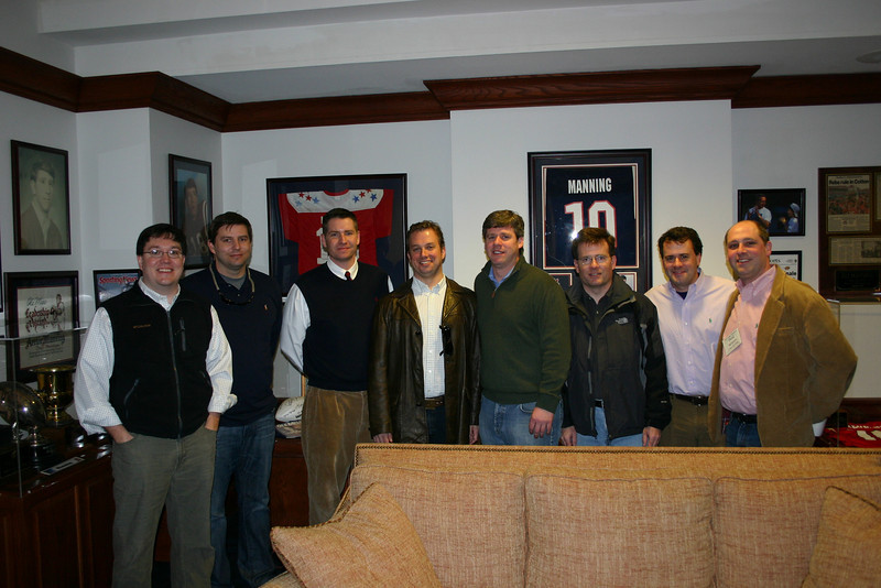Members of the class of 2000 in the Manning Room