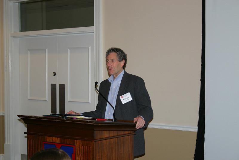 Dean Richard Gershon addresses members at the annual Lamar Order breakfast meeting
