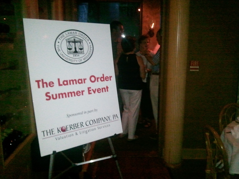 The Lamar Order Dinner held in conjunction with the MS Bar Convention took place at The Ocean Club Restaurant