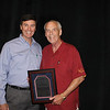 Law Alumni Chapter president Bobby Bailess (BBA 73, JD 76) with 2012 UM Law Alumnus of the Year Scotty Welch (LLB 64)
