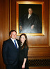 Jason Bone (JD 02) and Lauren Campisi of New Orleans in front of a portrait of Chief Justice Edward Douglass White, also from Louisiana.